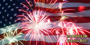 GreatGold.fm Classic Hits Sparkles For USA Birthday Celebration Month.