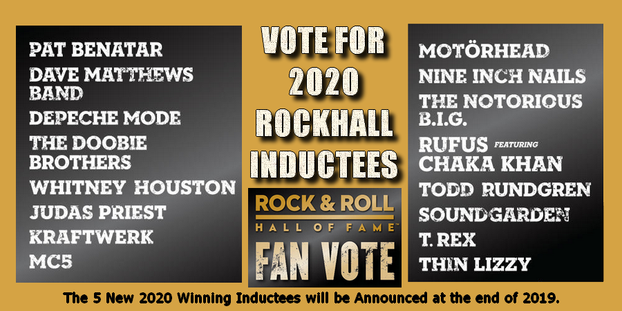Hear Rock Hall of Fame 2020 Nominees in The GreatGOLD Mix!